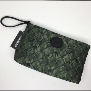 Steve Madden Camo Quilted Nylon Wristlet Pouch